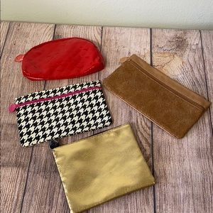 Set of 4 Ipsy Cosmetic Bags
